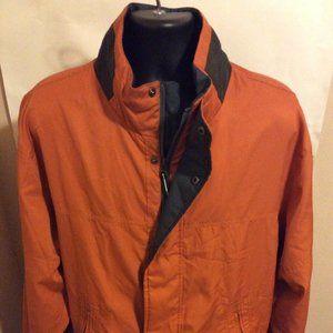 Roundtree Yorke Jacket Men Size XL Full Zip Orange